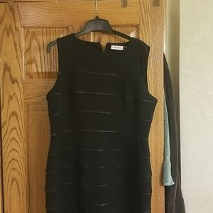 Women's sz14 black Calvin Klein dress w/ zippers